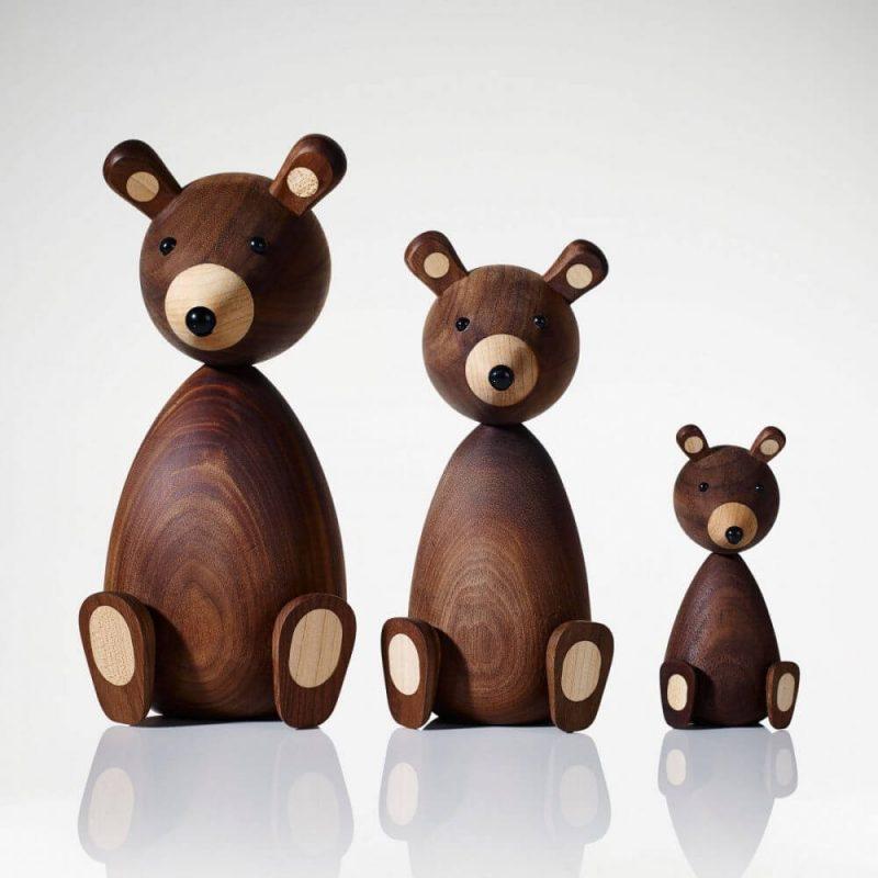 Drvena figura medvjedić