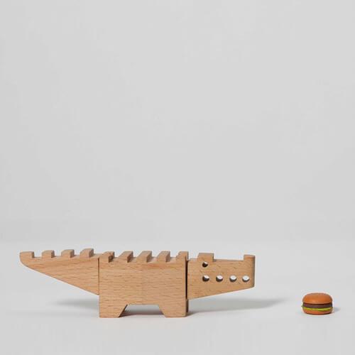 Drvena igračka Aligator