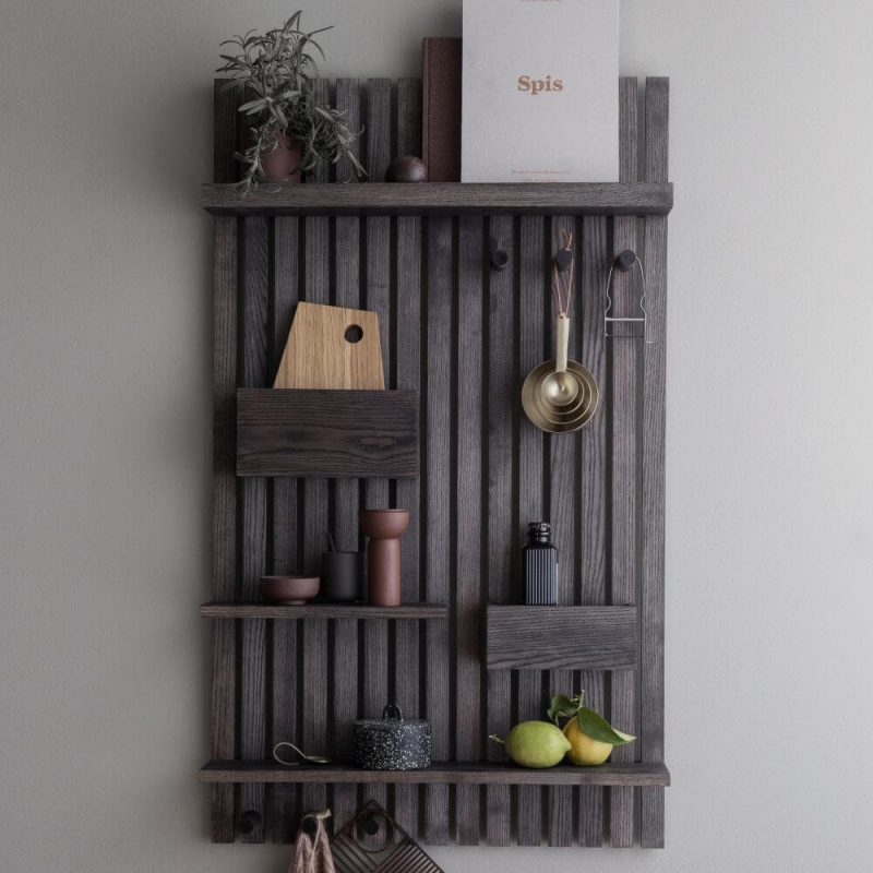 Multi shelf drvena polica